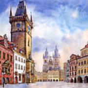 Prague Old Town Square Print by Yuriy  Shevchuk