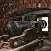 24 Pounder Cannon Print by Peter Chilelli