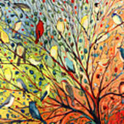 27 Birds Print by Jennifer Lommers