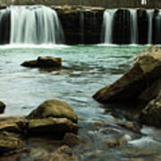 Falling Water Falls Print by Iris Greenwell