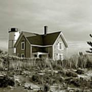 Sandy Neck Lighthouse Print by Charles Harden