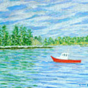 Maine Lobster Boat Print by Collette Hurst