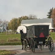Amish Buggy Print by David Arment