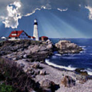 Portland Head Lighthouse Print by Skip Willits