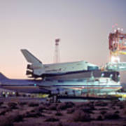 747 With Space Shuttle Enterprise Before Alt-4 Print by Brian Lockett