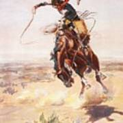 A Bad Hoss Print by Charles Russell