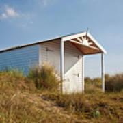 A Beach Hut In The Marram Grass At Old Hunstanton North Norfolk Print by John Edwards