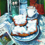 A Beignet Morning Print by Dianne Parks