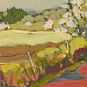 A Bend In The Road Print by Jennifer Lommers