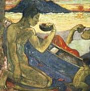 A Canoe Print by Paul Gauguin