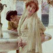 A Difference Of Opinion Print by Sir Lawrence Alma-Tadema