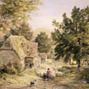 A Farmyard Near Princes Risborough Print by Samuel Palmer