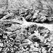 A Hiker's View - Landscape Print Print by Kelli Swan