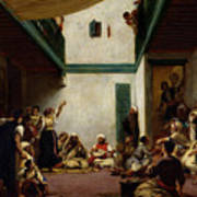A Jewish Wedding In Morocco Print by Ferdinand Victor Eugene Delacroix