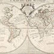 A Map Of The World Print by John Senex