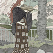 A Musician Print by Eugene Grasset