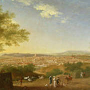 A Panoramic View Of Florence From Bellosguardo Print by Thomas Patch