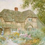 A Surrey Cottage Print by Arthur Claude Strachan