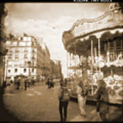 A Walk Through Paris 4 Print by Mike McGlothlen