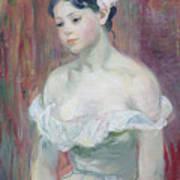A Young Girl Print by Berthe Morisot