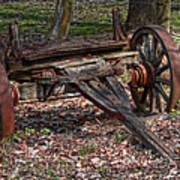Abandoned Wagon Print by Tom Mc Nemar