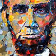 Abraham Lincoln Portrait Print by Debra Hurd