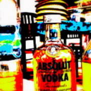 Absolut Gasoline Refills For Bali Bikes Print by Funkpix Photo Hunter