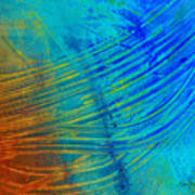 Abstract Art  Painting Freefall By Ann Powell Print by Ann Powell