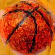 Abstract Basketball Print by David G Paul