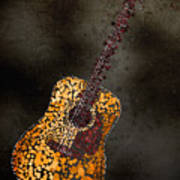 Abstract Guitar Print by Michael Tompsett