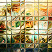 Abstract-through Glass Print by Patricia Motley