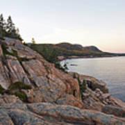 Acadia Cliffs Print by Alexander Mendoza