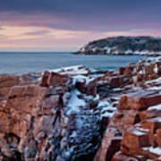 Acadian Cliffs Winter Sunrise 1 Print by Susan Cole Kelly