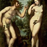 Adam And Eve Print by Peter Paul Rubens