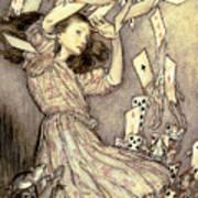 Adventures In Wonderland Print by Arthur Rackham