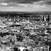Aerial View Of London 6 Print by Mark Rogan