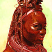 African Beauty Print by Enzie Shahmiri