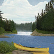 After The Rapids Print by Kenneth M  Kirsch