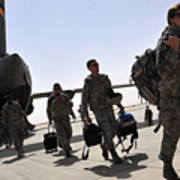 Airmen Arrive In Iraq In Support Print by Stocktrek Images