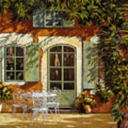 Al Fresco In Cortile Print by Guido Borelli