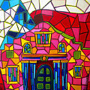 Alamo Mosaic Two Print by Patti Schermerhorn