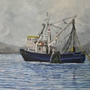 Alaskan Fishing Print by Reb Frost