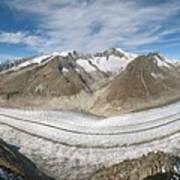 Aletsch Glacier, Switzerland Print by Dr Juerg Alean