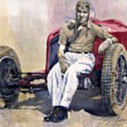 Alfa Romeo Monza Tazio Nuvolari 1932 Print by Yuriy  Shevchuk
