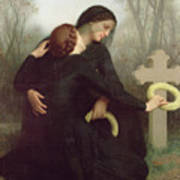 All Saints Day Print by William Adolphe Bouguereau