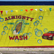 Almighty Car Wash Print by David Kyte