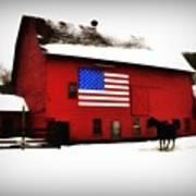American Barn Print by Bill Cannon