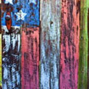 American Flag Gate Print by Garry Gay