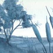 Among The Cattails... No. Four Print by Robert Meszaros
