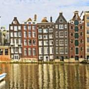 Amsterdam Canal Print by Giancarlo Liguori